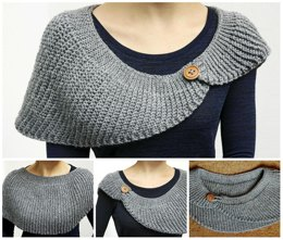 Knit-Look Half Moon Crochet Shawl