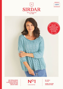 Ladies Sweater in Sirdar No.1 DK - 10097 - Leaflet