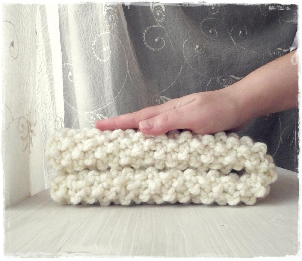 Textured Chunky knit baby blanket Knitting pattern by Zucchini ...