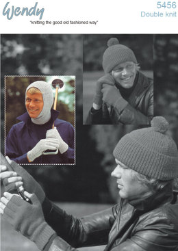 Balaclava, Ribbed Hat and Gloves in Wendy Mode DK - 5456