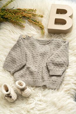 Baby Sweater Dot in Hoooked Somen - Downloadable PDF
