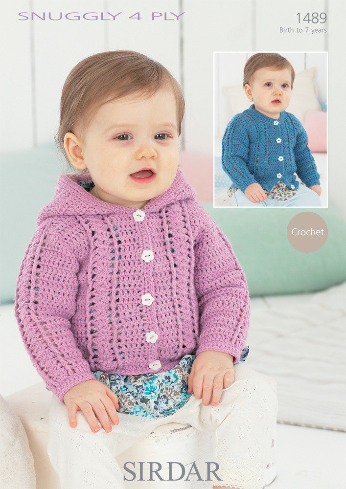 Cardigans in Sirdar Snuggly 4 ply 50g - 1489 - Downloadable PDF