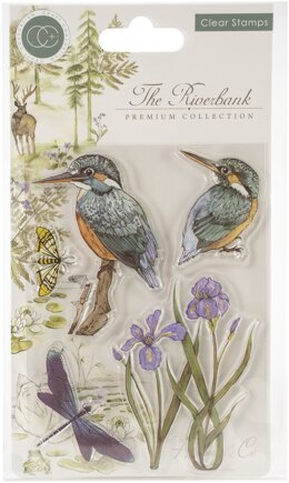 Craft Consortium A5 Clear Stamps - Kingfisher