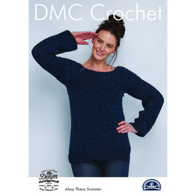 Ahoy There Sweater in Natura Denim in DMC - 15452L/2 - Leaflet