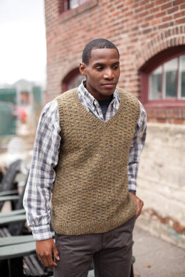 Romo Vest in Berroco Blackstone Tweed - PDF336-3