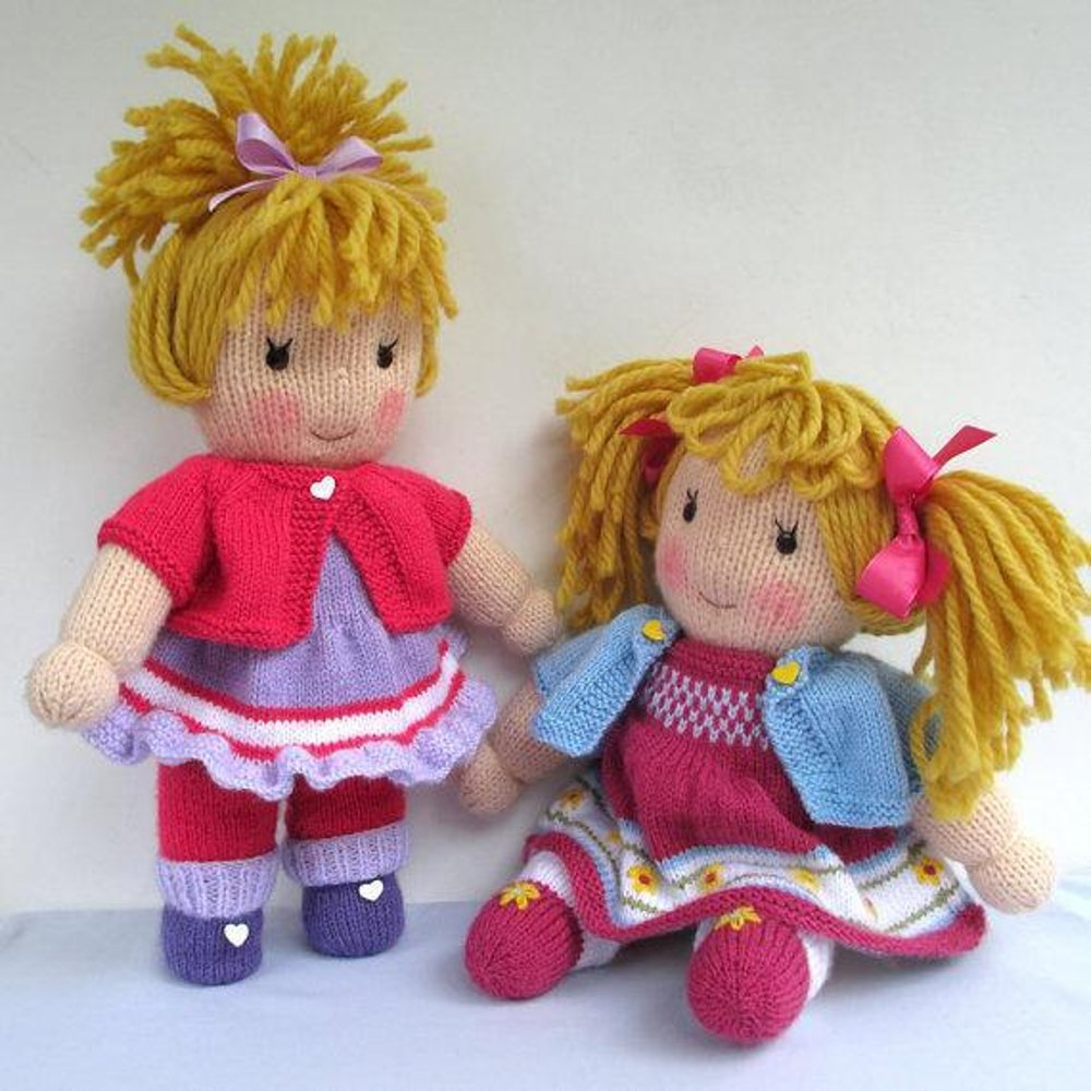 Jasmine and Violet - Knitted Dolls Knitting pattern by ...