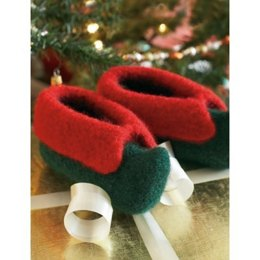 Kid's Elf Slippers in Patons Classic Wool Worsted