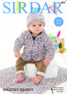 Jacket, Hat and Blanket in Sirdar Snuggly Squishy - 4850 - Downloadable PDF