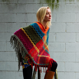 Poncho in Imperial Yarn Native Twist - P144 - Downloadable PDF