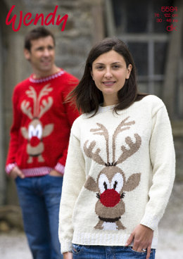 Rudolph Sweater in Wendy Mode DK - 5594