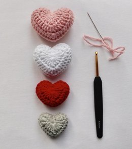 Crochet Stuffed Hearts