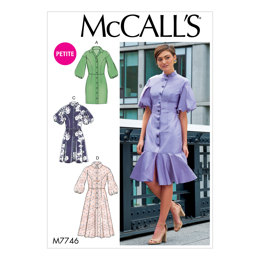 McCall's Misses'/Miss Petite Dresses M7746 - Sewing Pattern