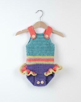 Crochet Baby Romper Mermaid Princess