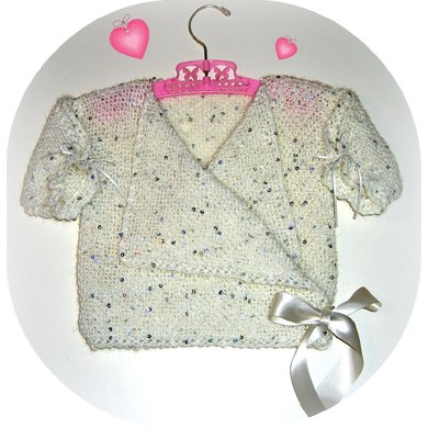 Girl's Sparkly Wrap & Tabard Top (allsquareknits)