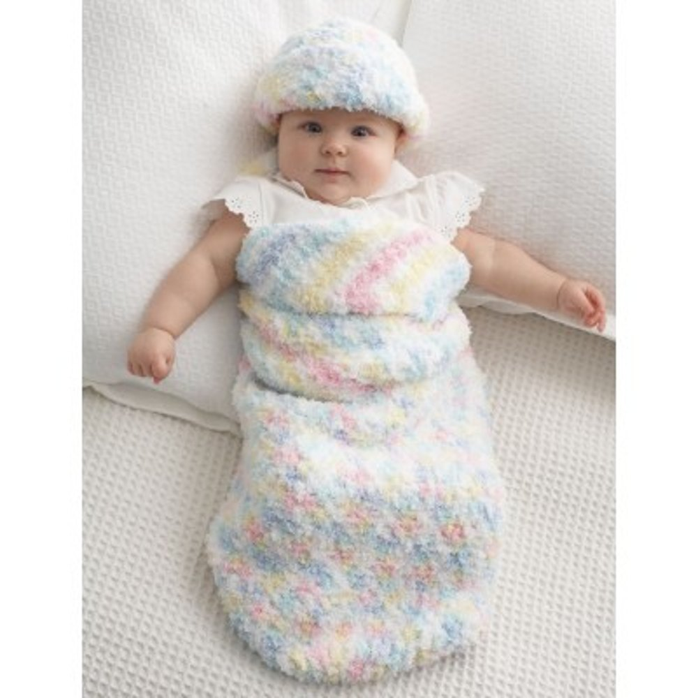 Baby Cocoon and Hat in Bernat Pipsqueak | Knitting Patterns ...