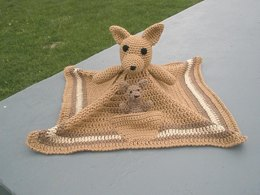 Kangaroo Lovey / Security Blanket with Bonus Joey Pattern