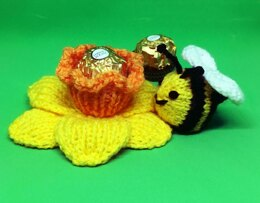 Daffodil and bee, Ferrero Rocher holders