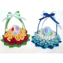 Easter Basket. Modern Decorative Flower Egg Basket.