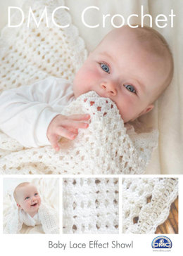 Baby Lace Effect Shawl in DMC Petra Crochet Cotton Perle No. 3 - 15046L/2