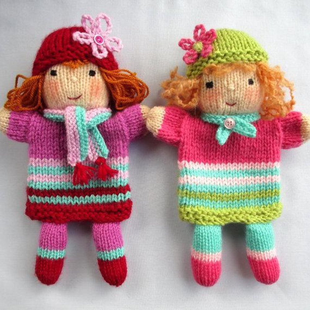 Stylecraft Knitting Pattern Errors : Ruby and Rose - Hand Puppet Dolls Knitting pattern by ...