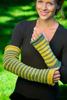 Cascade Wrist-Arm Warmers in Imperial Yarn Columbia - P123 - Downloadable PDF