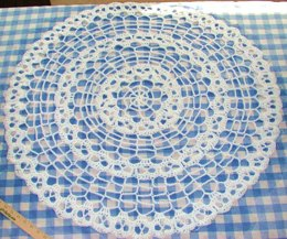 Creepy Skull Spider Web Baby Afghan or Doily Infinity Round