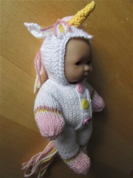 5 inch Berenguer Doll Unicorn Outfit
