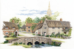 Derwentwater Designs Wiltshire Village, 14 Count Aida Cross Stitch Kit