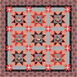 Tula Pink Holidays with our Homies Quilt - Downloadable PDF