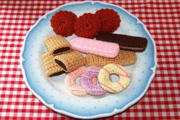 Knitting & Crochet Pattern for a Selection of Biscuits / Cookies - Fake Fun Food