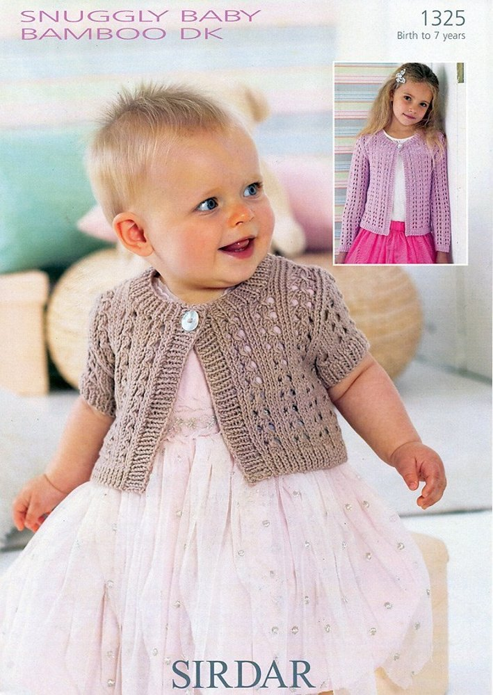 Long and Short Sleeved Cardigan in Sirdar Snuggly Baby ...