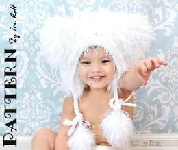 Polar Bear Hat Bonnet - Crochet PDF Pattern