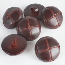 Leather Shank Buttons - Brown