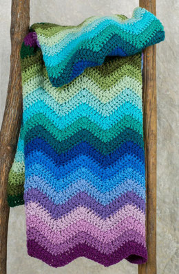 Radiating Ripple Throw in Red Heart Super Saver Economy Solids - LW4810 - Downloadable PDF