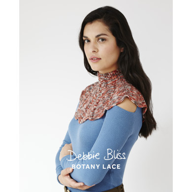 """""""Lace Cowl and Mitts"""" - Cowl Knitting & Crochet Pattern in Debbie Bliss Botany Lace - DB127 - Leaflet"""