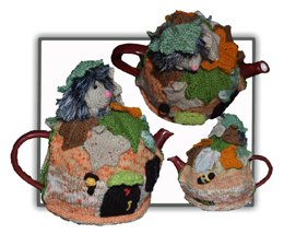 Hedgehog in Autumn Tea Cosy