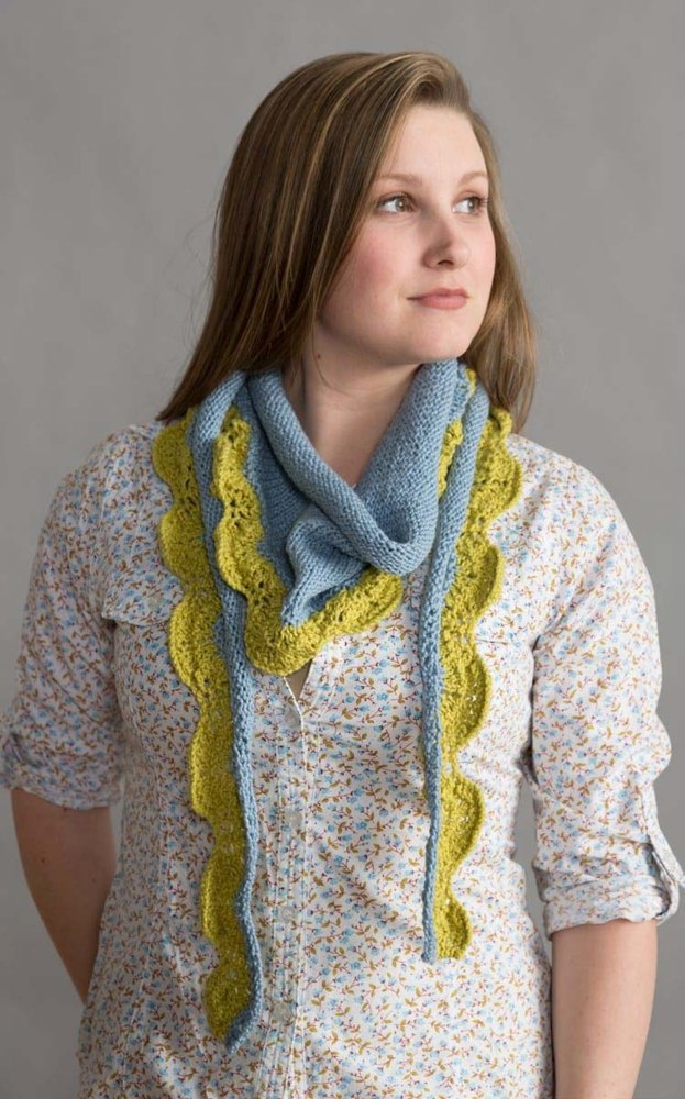 Two Colour Scarf Knitting Pattern : Two-Color Scarf in Classic Elite Yarns Verde Collection Seedling Knitting P...