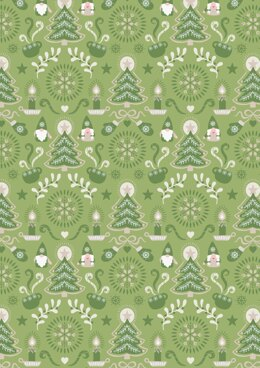 Lewis & Irene Hygge Christmas green Tonttu Cut to Length