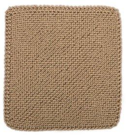 Bias Garter Stitch Square for Knit Your Cables Afghan in Red Heart Soft Solids - LW4309-A