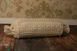 Braided Cable Block Bolster Pillow
