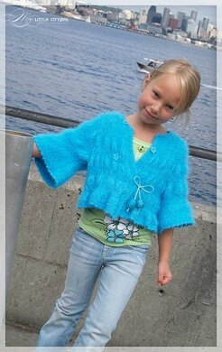Turquoise Hand Knitted Sweater
