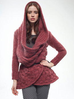 Big Red Cardigan in Rowan Cocoon