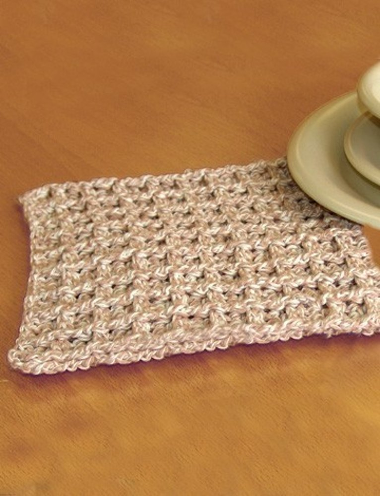 Dishcloth In Lily Sugar And Cream Twists Crochet