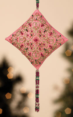 Mill Hill Pink Champagne Beaded Kit with Treasures - 8cm x 14cm