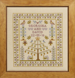 Historical Sampler Company Wedding Tree of Life Sampler Cross Stitch Kit