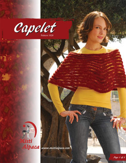 Capelet in Misti Alpaca Chunky & Hand Paint Lace - 1028 - Downloadable PDF
