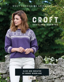 Alice Geo Sweater in West Yorkshire Spinners The Croft Shetland Country - DBP0082 - Downloadable PDF