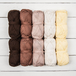 Rico Creative Cotton Aran Color Pack Earth, (10 pack)