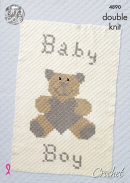 Baby Blankets in King Cole Comfort DK - 4890 - Downloadable PDF