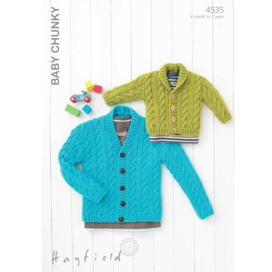 71af31529 Cardigans in Hayfield Baby Chunky - 4535
